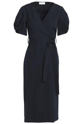 A.L.C. Cotton-blend poplin wrap dress