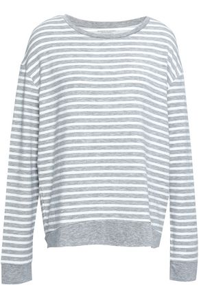 MAJESTIC FILATURES Striped French terry top
