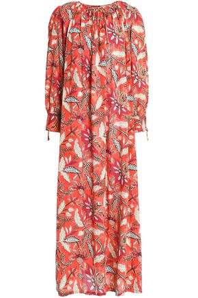 ANTIK BATIK Gathered printed cotton maxi dress