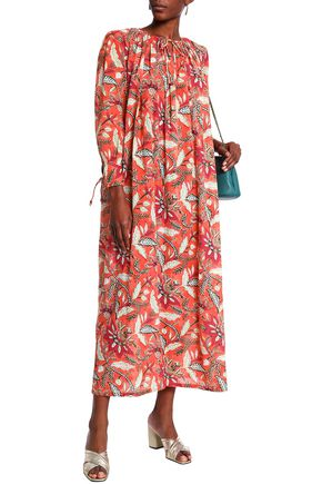 ANTIK BATIK Printed cotton midi dress