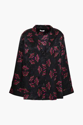 A.L.C. Printed silk-jacquard shirt