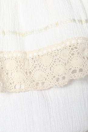 ANTIK BATIK Off-the-shoulder cotton-gauze midi dress