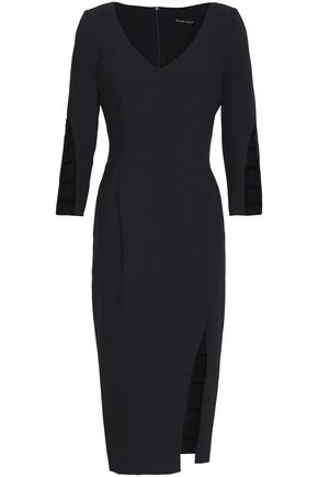 BLACK HALO Cutout crepe dress