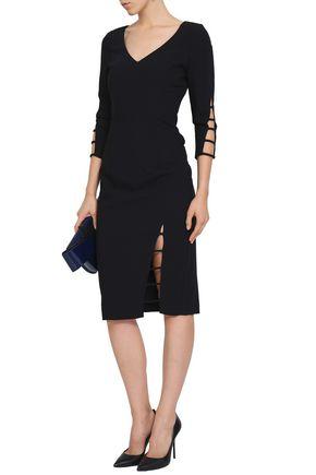 BLACK HALO Cutout crepe dress