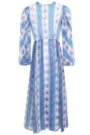 EMILIA WICKSTEAD Printed silk-organza midi dress