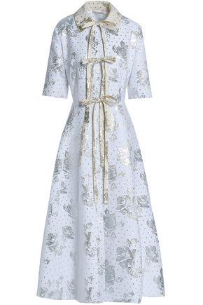 EMILIA WICKSTEAD Metallic jacquard midi dress