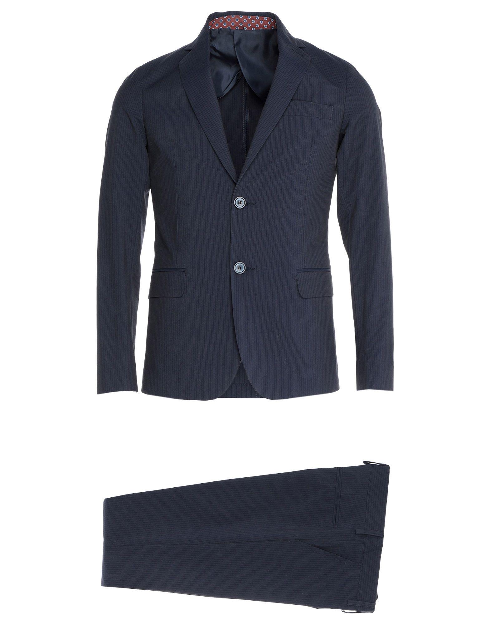 《セール開催中》SD FACTORY メンズ スーツ ダークブルー 44 コットン 65% / ポリエステル 33% / ポリウレタン 2%
