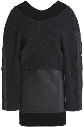 PACO RABANNE Bouclé wool-blend mini dress