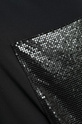 PACO RABANNE Appliquéd layered cady top