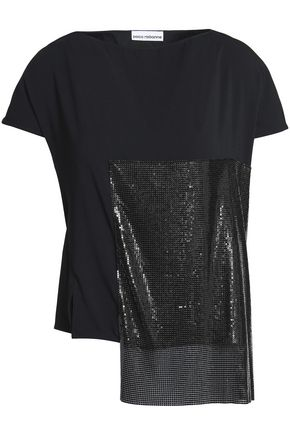 PACO RABANNE Appliquéd layered cady top