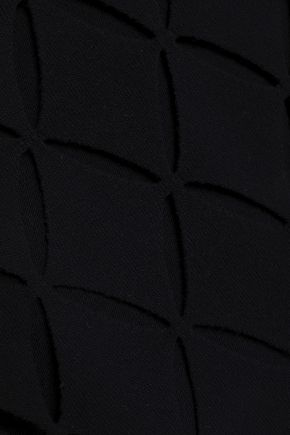 PACO RABANNE Laser-cut wool-blend mini dress