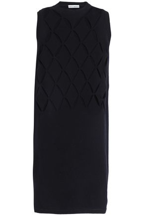 PACO RABANNE Laser-cut wool-blend mini dress