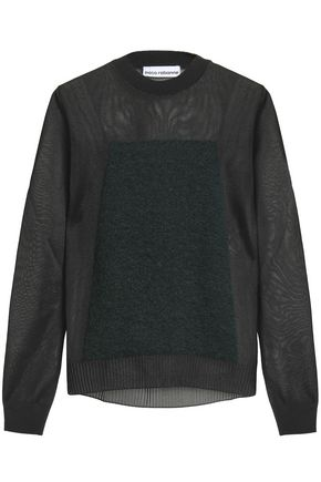 PACO RABANNE Paneled knitted top