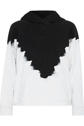 KAIN Dickinson two-tone cotton-fleece hoodie