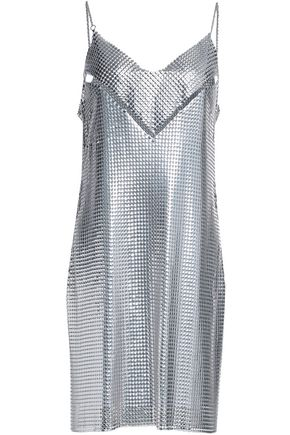 PACO RABANNE Cutout chainmail mini dress