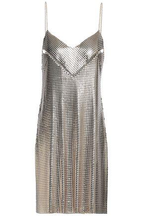 PACO RABANNE Cutout chainmail mini dress