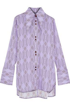 ELLERY Bilbao printed stretch-silk shirt