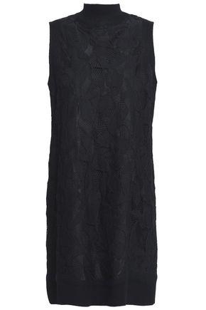 RAG & BONE Cotton-blend lace turtleneck mini dress