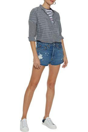 RE/DONE by LEVI'S Distressed denim shorts