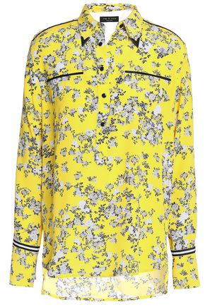 RAG & BONE Floral-print silk crepe de chine shirt