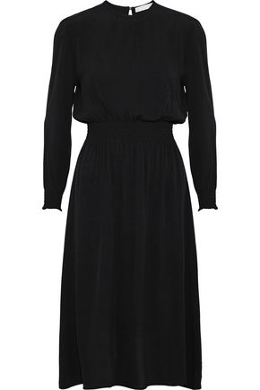 KAIN Gelsey shirred washed-crepe dress