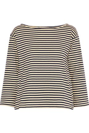 KAIN Striped modal and silk-blend jersey top