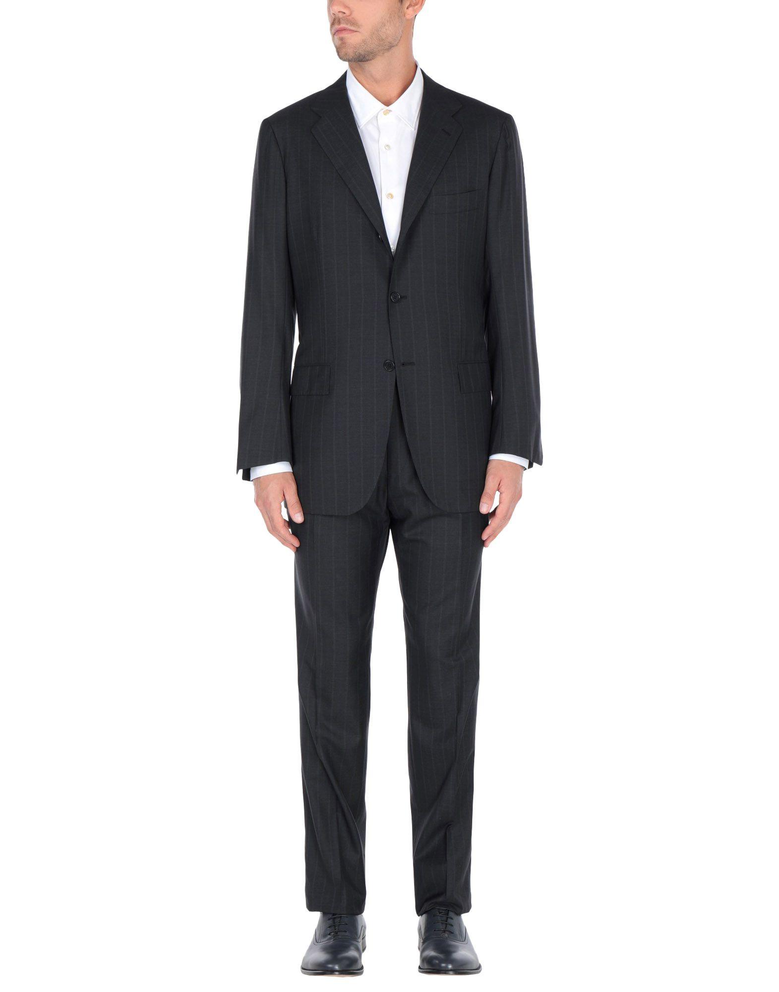 《送料無料》KITON メンズ スーツ スチールグレー 54 ウール 100%