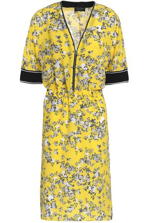 RAG & BONE Floral-print silk crepe de chine dress
