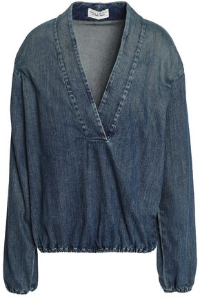 NILI LOTAN Faded denim blouse