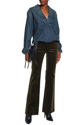 NILI LOTAN Faded denim blouse