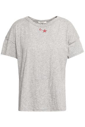 RAG & BONE Embroidered Pima cotton-jersey T-shirt