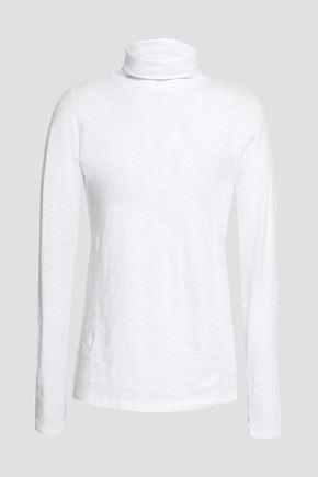 RAG & BONE Slub Pima cotton-jersey turtleneck top