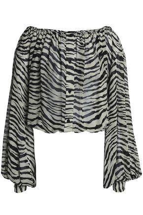 NILI LOTAN Printed silk crepe de chine blouse