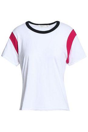 RAG & BONE Percy color-block slub Pima cotton-jersey T-shirt