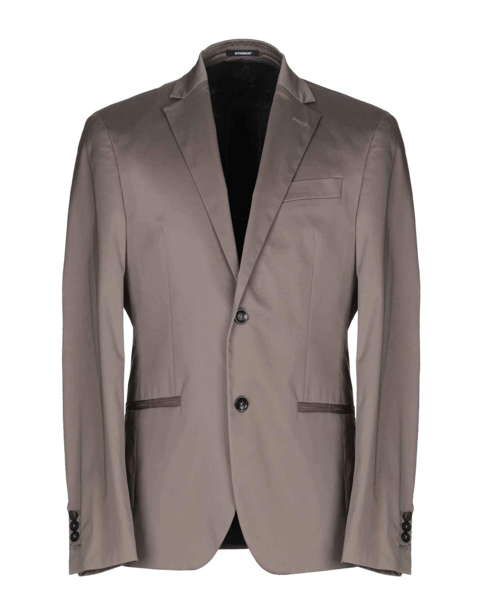 《セール開催中》OFFICINA 36 メンズ テーラードジャケット ドーブグレー 50 コットン 97% / ポリウレタン 3%