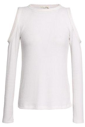 RAG & BONE Gwen cold-shoulder ribbed jersey top