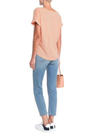RAG & BONE Lottie linen-jersey T-shirt
