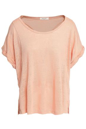 RAG & BONE Lottie linen-jersey T-shirt