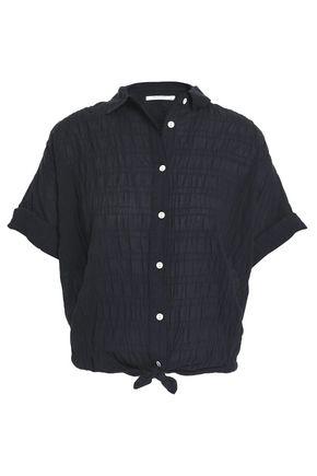 RAG & BONE Crinkled stretch-cotton shirt