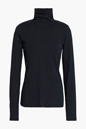 RAG & BONE Slub Pima cotton-jersey turtleneck top