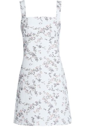 RAG & BONE Floral-print denim mini dress