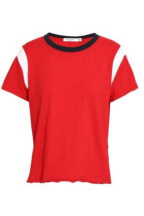 RAG & BONE Percy color-block Pima cotton-jersey T-shirt