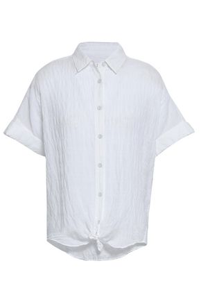 RAG & BONE Crinkled stretch-cotton shirt