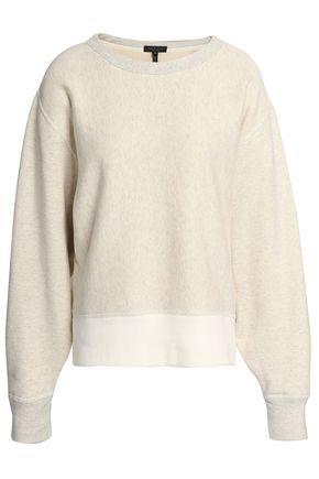 RAG & BONE Two-tone French cotton-terry sweatshirt