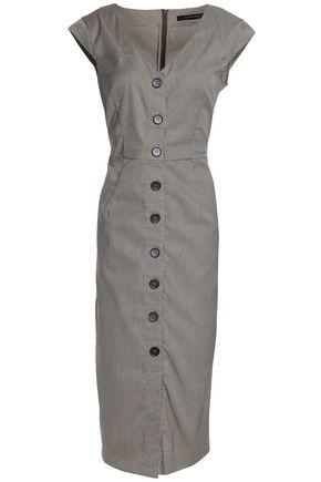 W118 by WALTER BAKER Carletta houndstooth jacquard midi dress