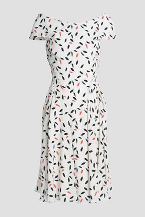 ZAC POSEN Printed crepe dress