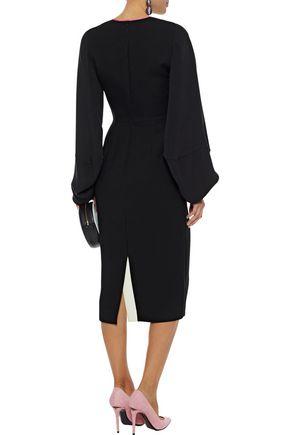 ROKSANDA Bow-detailed cady midi dress