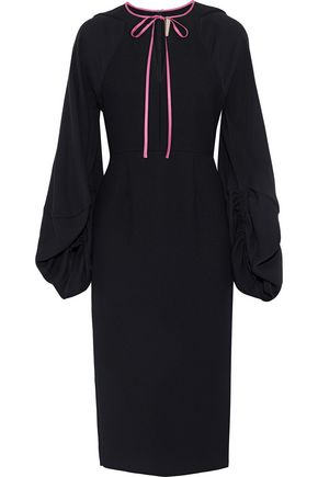 ROKSANDA Bow-detailed cady midi dress