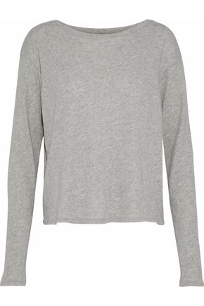 ENZA COSTA Cotton and cashmere-blend sweater