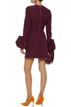 ROKSANDA Fluted crepe mini dress